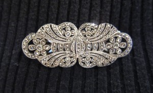 Vintage Marcasite Dress Clip Brooch 1930's Bags of Vintage Toni Turner