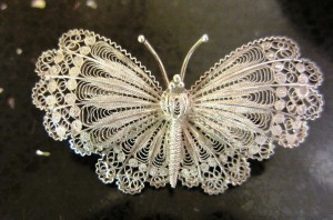 Vintage Silver 800 Butterfly, Bags of Vintage, Toni Turner